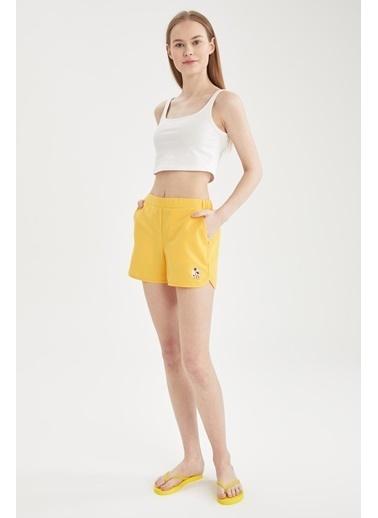 DeFacto Basic Mini Yüzme Şortu Sarı